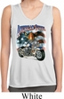 Ladies Shirt American Steel Sleeveless Moisture Wicking Tee T-Shirt