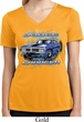 Ladies Shirt Blue Dodge Charger Moisture Wicking V-neck Tee T-Shirt