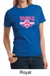 Ladies Shirt Breast Cancer Awareness Tackle Cancer Tee T-Shirt