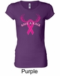 Ladies Shirt Breast Cancer Save a Rack Longer Length Tee T-Shirt