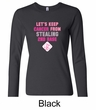 Ladies Shirt Breast Cancer Second 2nd Base Long Sleeve Tee T-Shirt
