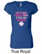 Ladies Shirt Breast Cancer Second 2nd Base Longer Length Tee T-Shirt
