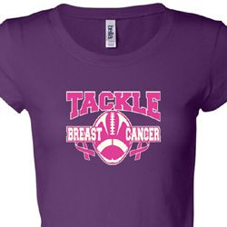 ed49b023eed Breast Cancer Awareness Tackle Cancer Ladies Shirts - Ladies Breast ...
