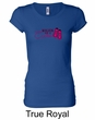 Ladies Shirt Breast Cancer Walkin For a Cure Longer Length Tee T-Shirt