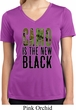 Ladies Shirt Camo is the New Black Moisture Wicking V-neck Tee T-Shirt