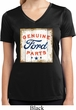 Ladies Shirt Distressed Genuine Ford Parts Moisture Wicking V-neck Tee