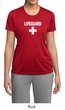 Ladies Shirt Distressed Lifeguard Moisture Wicking Tee T-Shirt