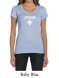 Ladies Shirt Distressed Lifeguard Scoop Neck Tee T-Shirt