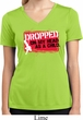 Ladies Shirt Dropped On My Head Moisture Wicking V-neck Tee T-Shirt