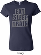 Ladies Shirt Eat Sleep Train Crewneck Tee T-Shirt