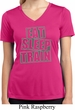 Ladies Shirt Eat Sleep Train Moisture Wicking V-neck Tee