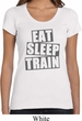 Ladies Shirt Eat Sleep Train Scoop Neck Tee T-Shirt