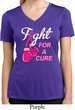 Ladies Shirt Fight For a Cure Moisture Wicking V-neck Tee T-Shirt