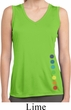 Ladies Shirt Glowing Chakras Bottom Print Sleeveless Dry Wicking Tee