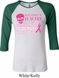 Ladies Shirt Halloween Scary Breast Cancer Deadly Raglan Tee T-Shirt