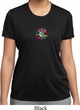Ladies Shirt Hippie Sun Patch Middle Moisture Wicking Tee T-Shirt