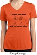 Ladies Shirt I've Got Your Back Moisture Wicking V-neck Tee T-Shirt