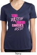 Ladies Shirt Kicked Cancers Ass Moisture Wicking V-neck Tee T-Shirt