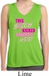 Ladies Shirt Kicked Cancers Ass Sleeveless Moisture Wicking Tee