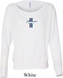 Ladies Shirt Legend Lives Crest Small Print Off Shoulder Tee T-Shirt