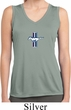 Ladies Shirt Legend Lives Small Print Sleeveless Moisture Wicking Tee