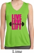 Ladies Shirt Live Love Lift Sleeveless Moisture Wicking Tee T-Shirt