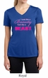 Ladies Shirt Look Like a Beauty Moisture Wicking V-neck Tee T-Shirt
