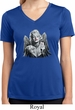 Ladies Shirt Marilyn Butterfly Moisture Wicking V-neck Tee