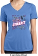 Ladies Shirt Miss Gymnast To You Moisture Wicking V-neck Tee T-Shirt