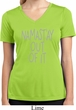 Ladies Shirt Namastay Out Of It Moisture Wicking V-neck Tee T-Shirt