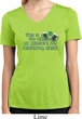 Ladies Shirt Official Drinking Shirt Moisture Wicking V-neck Tee