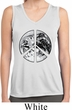 Ladies Shirt Peace Earth Sleeveless Moisture Wicking Tee T-Shirt