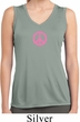 Ladies Shirt Pink Peace Sleeveless Moisture Wicking Tee
