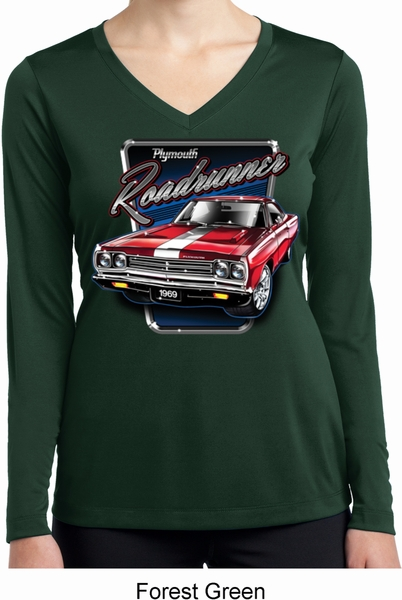 fd9e0022 Ladies Shirt Plymouth Roadrunner Dry Wicking Long Sleeve Tee ...