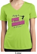 Ladies Shirt Pretty in Pink Moisture Wicking V-neck Tee T-Shirt