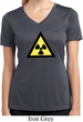 Ladies Shirt Radioactive Triangle Moisture Wicking V-neck T-Shirt