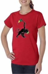 Ladies Shirt Rasta Triangle Organic Tee T-Shirt