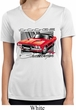 Ladies Shirt Red Challenger White Moisture Wicking V-neck Tee T-Shirt