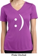 Ladies Shirt Smiley Chat Face Moisture Wicking V-neck Tee T-Shirt