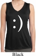 Ladies Shirt Smiley Chat Face Sleeveless Moisture Wicking Tee T-Shirt