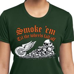 Ladies Shirt Smoke Em Moisture Wicking Tee T-Shirt