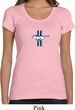 Ladies Shirt The Legend Lives Crest Small Print Scoop Neck Tee T-Shirt
