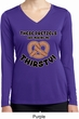 Ladies Shirt Thirsty Pretzels Dry Wicking Long Sleeve Tee T-Shirt
