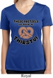 Ladies Shirt Thirsty Pretzels Moisture Wicking V-neck T-Shirt