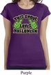 Ladies Shirt This Ghoul Loves Halloween Longer Length Tee T-Shirt