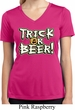 Ladies Shirt Trick Or Beer Moisture Wicking V-neck Tee T-Shirt