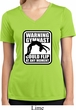 Ladies Shirt Warning Gymnast Could Flip Moisture Wicking V-neck Tee