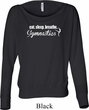 Ladies Shirt White Eat Sleep Breathe Gymnastics Off Shoulder Tee