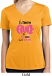 Ladies Shirt Yes, They're Fake Moisture Wicking V-neck Tee T-Shirt