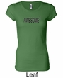 Ladies Shirts Awesome Cubed Longer Length Tee T-Shirt